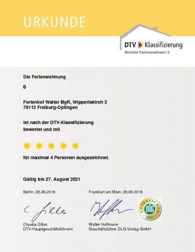 DTV Klassifizierung Ferienwohnung 6