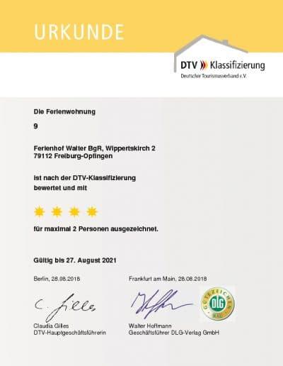 DTV Klassifizierung Ferienwohnung 9