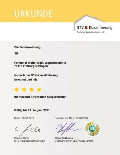 DTV Klassifizierung Ferienwohnung 10