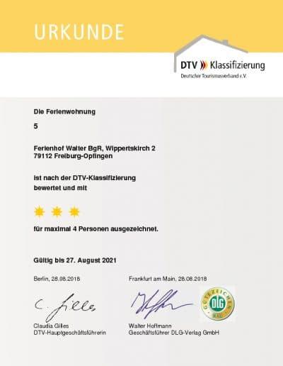 DTV Klassifizierung Ferienwohnung 5