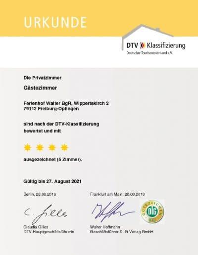 DTV Klassifizierung Gaestezimmer